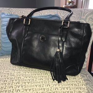 Isaac Mizrahi genuine soft leather shoulder bag